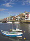 Whitby Church and Fishing Boats in the Harbour, Whitby, North Yorkshire, Yorkshire, England, UK Photographic Print by Neale Clarke