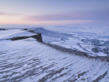 Snow at Dawn, Froggatt Edge, Peak District, Derbyshire, England, UK Photographic Print by Neale Clarke
