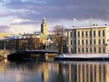 City in Winter, Stockholm, Sweden, Scandinavia, Europe Photographic Print by Sylvain Grandadam