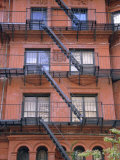 Apartment Fire Escapes, Brooklyn, New York, Ny, USA Photographic Print by Jean Brooks