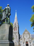 Statue of J R Godley and the Cathedral, Christchurch, Canterbury, South Island, New Zealand Photographic Print by Neale Clarke