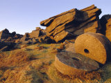Old Millstones, Peak District National Park, Stanard Edge, Derbyshire, England Photographic Print by Neale Clarke