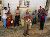 Old Street Musicians, Trinidad, Cuba, Caribbean, Central America Photographic Print by Bruno Morandi