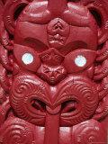 Maori Carving, Waitangi, Runanga, New Zealand. Photographic Print by Neale Clarke