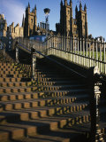 Playfair Steps and Parliament, Edinburgh, Scotland Photographic Print by Neale Clarke