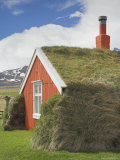 Lindarbakki Turf House at Bakkagerdi, Borgarfjordur Eystri North East Area, Iceland, Polar Regions Photographic Print by Neale Clarke