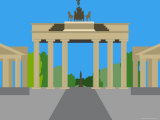 Illustration of the Brandenburg Gate, Berlin, Germany Photographic Print by Michael Kelly