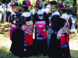 Hmong Girls, Luang Prabang, Laos, Asia Photographic Print by Bruno Morandi