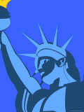 Illustration of the Statue of Liberty, New York City, New York State, United States of America Valokuvavedos tekijänä Michael Kelly