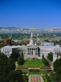 The Civic Center and Rockies Beyond, Denver, Colorado, USA Photographic Print by Jean Brooks