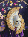 Person Wearing Masked Carnival Costume, Venice Carnival, Venice, Veneto, Italy Photographic Print by Bruno Morandi