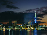 City Skyline at Night, Auckland, North Island, New Zealand, Pacific Photographic Print by Neale Clarke