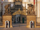 Palace Guards Outside First Courtyard, Prague Castle, Prague, Czech Republic, Europe Photographic Print by Neale Clarke
