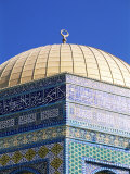 Dome of the Rock, Mount Moriah, Temple Mount, Jerusalem, Israel, Middle East Photographic Print by Sylvain Grandadam