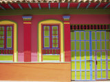 Doorway and Windows, Raquira, Royaca District, Colombia, South America Photographic Print by D Mace