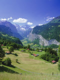 View Over Lauterbrunnen from Wengen, Bernese Oberland, Swiss Alps, Switzerland, Europe Photographic Print by Simon Harris