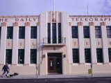 The Daily Telegraph Building, Art Deco Capital (1930s), Napier, North Island, New Zealand Photographic Print by Storm Stanley
