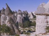 Rock Formations Resulting from Differential Erosion, Anatolia, Turkey Minor Photographic Print by Richard Ashworth