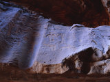 Rock Drawings of Thamudic Origin, Relating to Ancient Tribe of Thamud, Wadi Rum, Jordan Photographic Print by Richard Ashworth