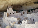 Cliff Palace Ruins Dating from 1200-1300 Ad Shaded in Limestone Overhang, Mesa Verde, Colorado, USA Photographic Print by Walter Rawlings