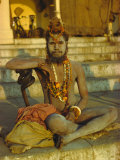 Hindu Holy Man, Uttar Pradesh State, India Photographic Print by John Henry Claude Wilson