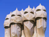 Gaudi Architecture, Casa Mila, La Pedrera House, Catalunya (Catalonia) (Cataluna), Spain Photographic Print by Gavin Hellier