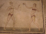 Mosaic 'Girls in Bikinis' (Doing Gymnastics) 4th Century Ad, Villa Romana Del Casale, Sicily, Italy Photographic Print by Richard Ashworth
