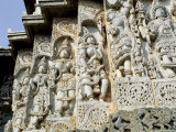 Close-Up of Carved Figures, Hoysaleshvara Temple, Halebid, Near Hassan, India Photographic Print by Richard Ashworth