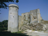 Tower and Keep of the Castle at Falaise, Birthplace of William the Conqueror, France Photographic Print by Philip Craven