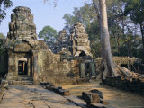 Ruins at Archaeological Site, Ta Prohm Temple, Angkor, Cambodia, Indochina Photographic Print by Occidor Ltd