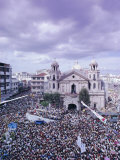 Crowds of Pilgrims and Devotees, Black Nazarene Festival, Downtown, Manila, Philippines Photographic Print by Alain Evrard