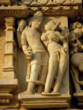 Vishnu and Lakshami, Sculptures on the Parshvinath Temple, Jain Group, Madhya Pradesh State, India Photographic Print by Richard Ashworth