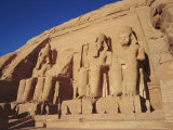 Temple of Re-Herakhte for Ramses II, was Moved When Aswan High Dam was Built, Abu Simbel, Egypt Photographic Print by Robert Harding