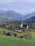 Saanen Village Church in Foreground, Switzerland Photographic Print by Richard Ashworth