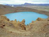 The Blue Crater Lake of Viti, Which Appeared after an Eruption in 1875, Reykjahlio, Iceland Photographic Print by Pearl Bucknell