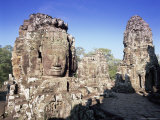 The Bayon and Stone Faces of Lokesvara, Siem Reap Province, Cambodia Photographic Print by Gavin Hellier