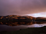 Dusk Over Glenelg Village and Glenmore River Estuary at High Tide, Scotland, UK Photographic Print by Pearl Bucknell