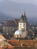 Elevated View Over the Centre of Medieval Brasov, Transylvania, Romania Photographic Print by Gavin Hellier