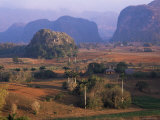 View Over Vinales Valley from Hotel Los Jasmines, Cuba, West Indies Photographic Print by Lee Frost