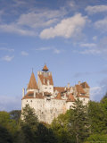 Bran Castle Perched Atop a 60M Peak in the Centre of the Village, Saxon Land, Transylvania Photographic Print by Gavin Hellier