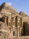 Rock-Cut Facade of Monastery (El Deir), Nabatean Archaeological Site, Petra, Jordan, Middle East Photographic Print by Upperhall Ltd