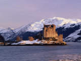 Eilean Donan Castle in Winter, Highlands, Scotland Photographic Print by Pearl Bucknell