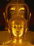 Twin Buddha Images, the Front is Phra Buddhachinnasi Over 600 Years Old, Thailand Photographic Print by Gavin Hellier