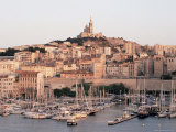 Across the Vieux Port to Basilica of Notre Dame De La Garde, Provence-Alpes-Cote-D'Azur, France Photographic Print by Ruth Tomlinson