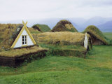 Buildings with Turf Roof and Walls, Glaumber (Glaumbaer), Iceland Photographic Print by Pearl Bucknell