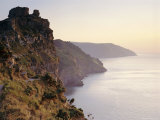 Castle Rock on the Coast Overlooking Wringcliff Bay, Devon, England Photographic Print by John Miller