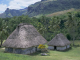 Traditional Houses, Bures, in the Last Old-Style Village, Fiji, South Pacific Islands Photographic Print by Anthony Waltham