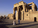 Forecourt and Pylon, Temple of Sobek and Haroeris, Archaeological Site, Kom Ombo, Egypt Photographic Print by Upperhall Ltd