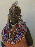 Portrait of a Young Samburu Woman in Traditional Dress and Jewellery, East Africa, Africa Photographic Print by Liba Taylor