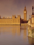 The Palace of Westminster and Big Ben, Across the River Thames, London, England, UK Photographic Print by John Miller